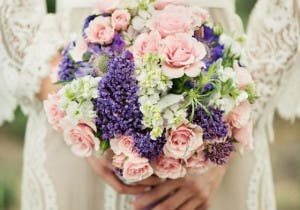 bhldn-gown-and-beautiful-bouquet-wedding-bouquets-pinterest